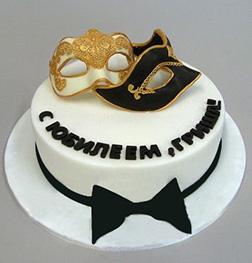 Romeo & Juliet Masquerade Ball Cake
