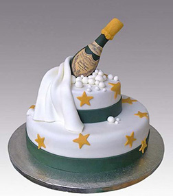 New Year's Starry Toast Cake