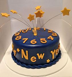 New Year's Countdown Cake