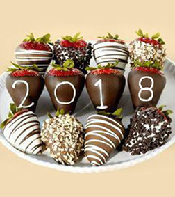 New Year's Dipped Strawberries Assortment