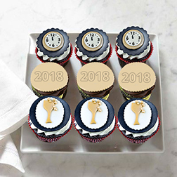 Midnight Party Dozen (12) Cupcakes