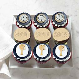 Midnight Party Half Dozen (6) Cupcakes