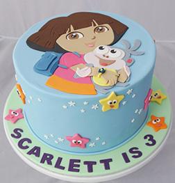 Dora & Boots Starry Sky Cake