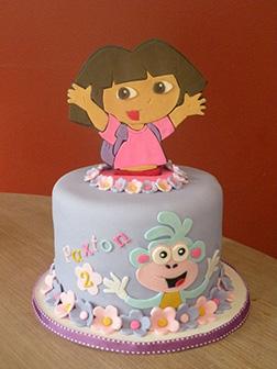 Dora the Explorer Pop-Out Birthday Cake
