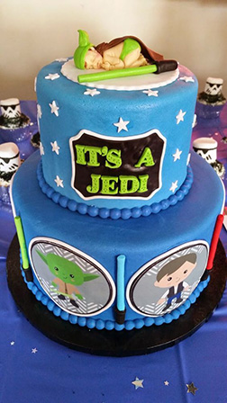 Napping Jedi Star Wars Birthday Cake