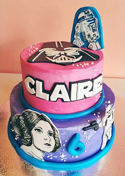 A New Hope Tiered Star Wars Birthday Cake