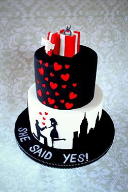 She Said Yes! Cake
