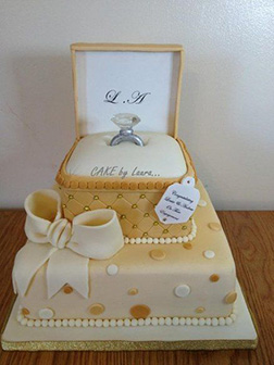 Ornate Ringbox Cake
