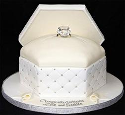 Flowing White Ringbox Cake
