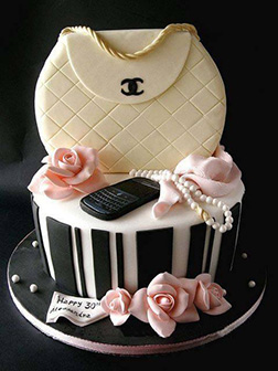 Soft Chanel Stack Bridal Shower Cake