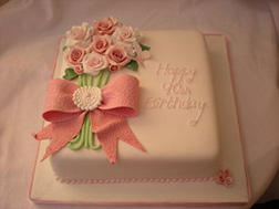 Darling Rose Sheet Cake