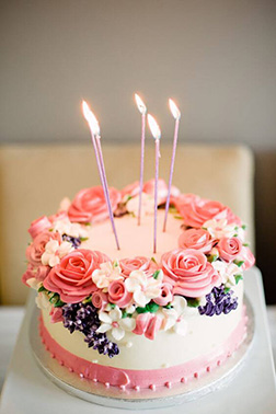 Wild Buttercream Flowers Cake
