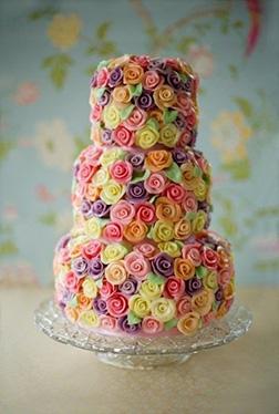 Rainbow Flower Wedding Cake AED 185999
