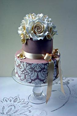 Blue Blossom Wedding Cake