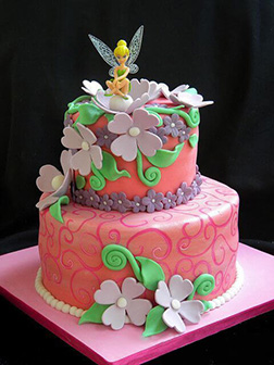 Tinkerbell Morning Glory Cake