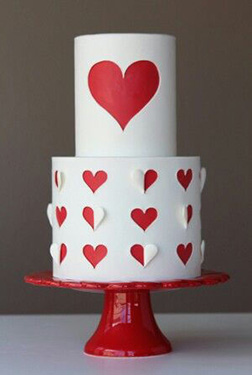 Cut Out Hearts Cake