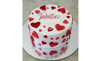 Drizzled with Hearts Cake