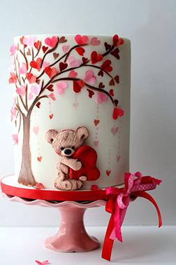 Falling Hearts Cake