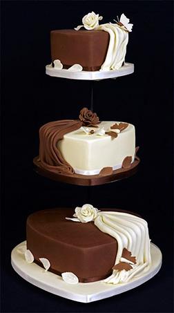 White and Dark Chocolate Valentine Cake