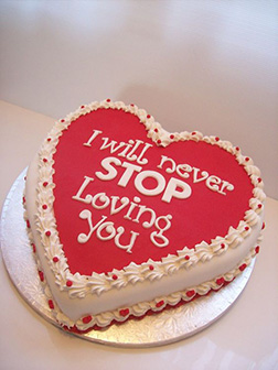 Eternal Love Valentine Cake
