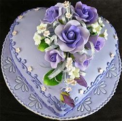 Lavender Love Valentine Cake