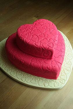Pink Tiered Valentine Cake
