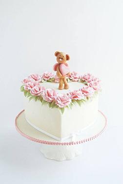 I Love You Beary Much Valentine Cake