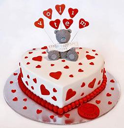 Bursting with Love Valentine Cake
