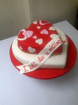 Double Heart Stack Valentine Cake