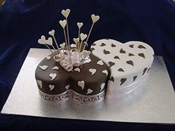 Opposites Attract Valentine Cake