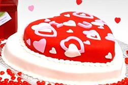 Bright Love Valentine Cake