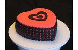 Minimalist Valentine Cake