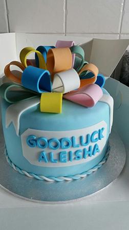Best of Luck Farewell Cake