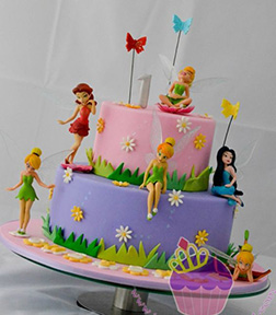 Tinkerbell Fairy Friends Tiered Cake