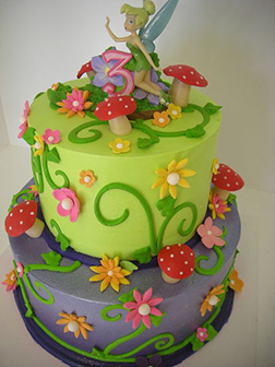 Tinkerbell Forest Forrage Cake