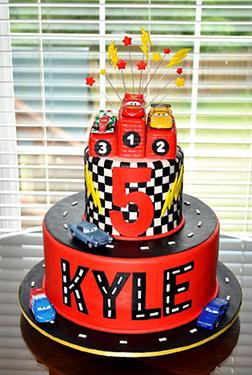 Lightning McQueen Grand Champion Cake