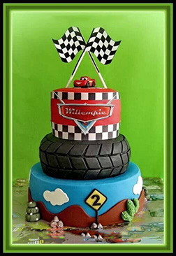 Lightning McQueen Pole Position Cake
