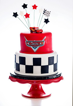 Lightning McQueen Star Tiered Cake