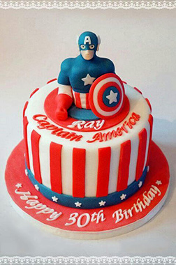 Captain America Pop Out Cake