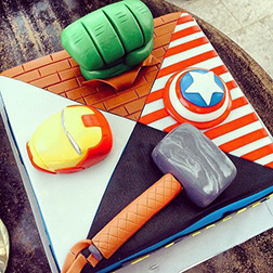 Avengers Collage Cake
