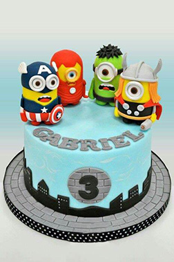 Earth's Mightiest Minions Birthday Cake