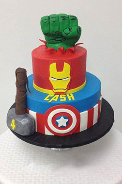 Avengers Triple Stack Cake