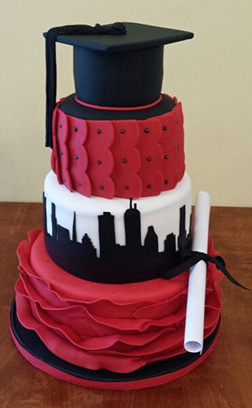 University City Tiered Graduation Cake