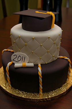 Regal Gold Graduation Cake