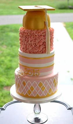 Glamorous Graduation Stack Cake