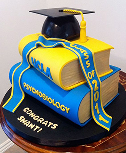 Textbook Stack Graduation Cake