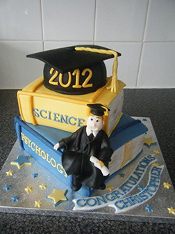 Walk the Line Graduation Cake