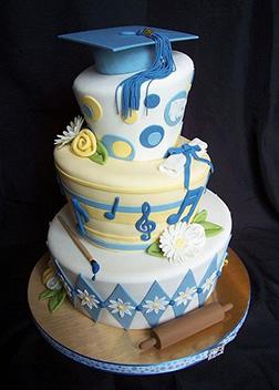 Artistic Stack Graduation Cake
