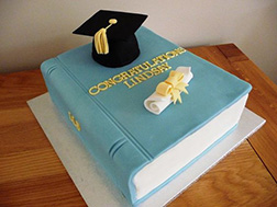 Congratulatory Textbook Graduation Cake