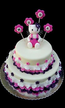 Elegant Tiered Hello Kitty Cake